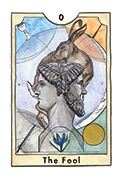 The Fool Tarot card in New Chapter deck
