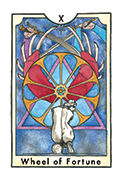Wheel of Fortune Tarot card in New Chapter deck
