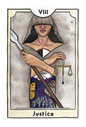 Justice Tarot card in New Chapter deck