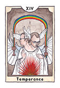 Temperance Tarot card in New Chapter deck