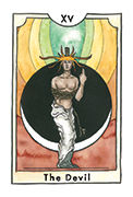 The Devil Tarot card in New Chapter deck