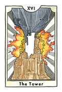 The Tower Tarot card in New Chapter deck