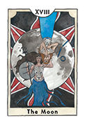 The Moon Tarot card in New Chapter deck