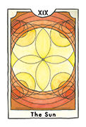 The Sun Tarot card in New Chapter deck