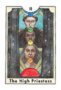 The High Priestess Tarot card in New Chapter deck