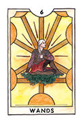 Six of Wands Tarot card in New Chapter deck