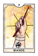 Seven of Wands Tarot card in New Chapter deck