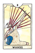 Eight of Wands Tarot card in New Chapter deck