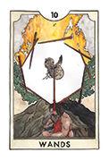 Ten of Wands Tarot card in New Chapter deck