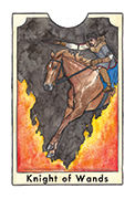 Knight of Wands Tarot card in New Chapter deck