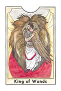 King of Wands Tarot card in New Chapter deck