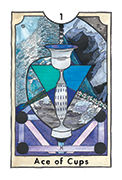 Ace of Cups Tarot card in New Chapter deck