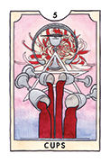 Five of Cups Tarot card in New Chapter deck
