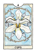 Six of Cups Tarot card in New Chapter deck