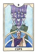 Nine of Cups Tarot card in New Chapter deck