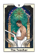 The Hierophant Tarot card in New Chapter deck