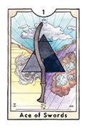 Ace of Swords Tarot card in New Chapter deck