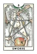 Five of Swords Tarot card in New Chapter deck