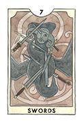Seven of Swords Tarot card in New Chapter deck