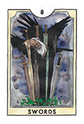 Eight of Swords Tarot card in New Chapter deck