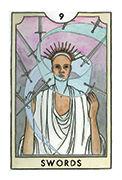 Nine of Swords Tarot card in New Chapter deck
