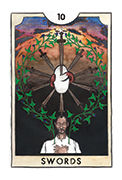 Ten of Swords Tarot card in New Chapter deck