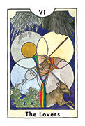 The Lovers Tarot card in New Chapter deck