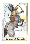 Knight of Swords Tarot card in New Chapter deck