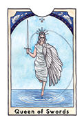 Queen of Swords Tarot card in New Chapter deck