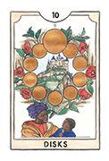 Ten of Disks Tarot card in New Chapter deck