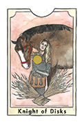 Knight of Disks Tarot card in New Chapter deck