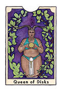 Queen of Disks Tarot card in New Chapter deck