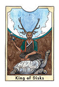 King of Disks Tarot card in New Chapter deck