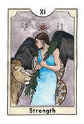 Strength Tarot card in New Chapter deck