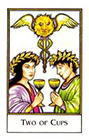 new-palladini-tarot - Two of Cups