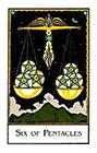 new-palladini-tarot - Six of Pentacles