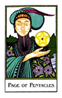 new-palladini-tarot - Page of Pentacles