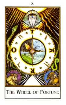 The Wheel of Fortune Tarot Card - The New Palladini Tarot Deck