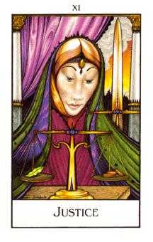 Justice Tarot Card - The New Palladini Tarot Deck