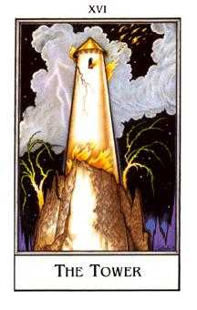 The Falling Tower Tarot Card - The New Palladini Tarot Deck
