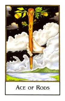 Ace of Sceptres Tarot Card - The New Palladini Tarot Deck