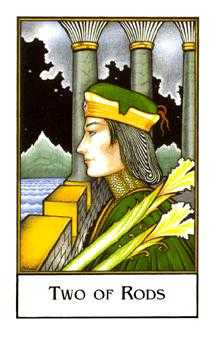Two of Staves Tarot Card - The New Palladini Tarot Deck
