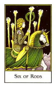 Six of Rods Tarot Card - The New Palladini Tarot Deck