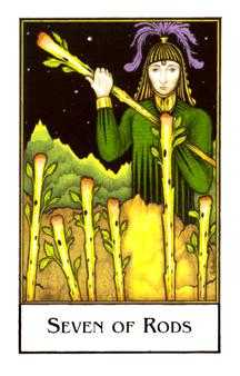 Seven of Staves Tarot Card - The New Palladini Tarot Deck