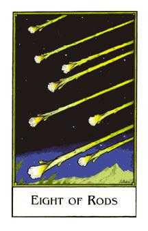 Eight of Staves Tarot Card - The New Palladini Tarot Deck