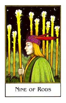 Nine of Staves Tarot Card - The New Palladini Tarot Deck
