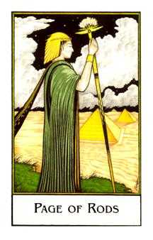 Valet of Batons Tarot Card - The New Palladini Tarot Deck
