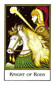 Knight of Rods Tarot Card - The New Palladini Tarot Deck