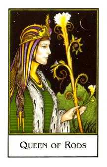 Queen of Staves Tarot Card - The New Palladini Tarot Deck