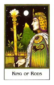 King of Staves Tarot Card - The New Palladini Tarot Deck